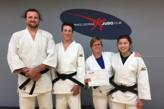 June 2018 - Sensei Aline with PG Judo's newest black belts